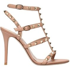 10df0c4a450 Valentino Women 105mm Rockstud Leather Sandals (60.185 RUB) ❤ liked on  Polyvore featuring shoes