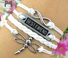 Best friend bracelet dragonflies infinity by littlecuteowl on Etsy, $4.99