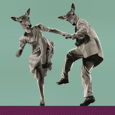 """marinamolares:  """"Dance, my Deer, Dance"""" #collage by Marina Molares"""