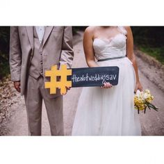 hashtag sign for wedding instagrams!