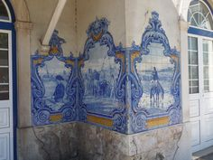 Jorge Colaço | Estação Ferroviária de / Railway Station of Vila Franca de Xira | 1930 [© Ana Almeida] #Azulejo #JorgeColaço