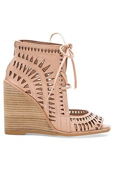 Jeffrey Campbell Rodillo Hi Wedge in Nude