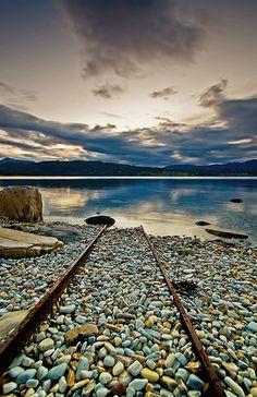 Rusty Railroad in Troms Fylke, Norway