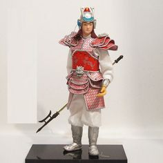 32cm Chinese Ancient Powerful Military Commander General PU leather cloth-7