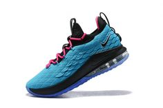 c536906bedb0 Best Price Nike LeBron 15 Low South Beach Teal Pink-Black Mens Basketball  Shoes For