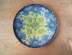 wall art ceramic plate wall medalion with lace by ceralonata