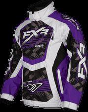FXR Racing - Snowmobile Sled Gear - Wmn's Cold Cross Jacket - Purp/Wht Strike