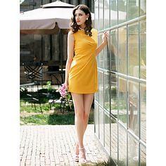TS Simplicidad plisa Vestido tubo - USD $ 19.79