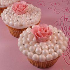 cupcakes met pareltjes