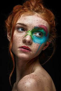 The Redhead World: Photo Creative Portrait Photography, Face Photography, Creative Portraits, Female Portrait, Portrait Art, Portrait Photo Original, William Clark, Art Visage, Watercolor Face