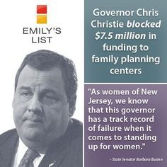 chris Christie war on women   Don't be fooled. Chris Christie is no proponent of women's health ...