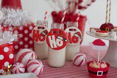 La festa di Babbo Natale. Decorare la festa di Natale con il rosso e il bianco e creazioni ispirati a Babbo Natale. WorldWideParty.