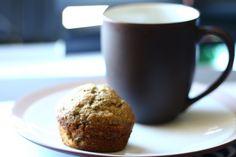 Healthy banana flax seed muffins
