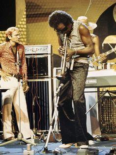 Miles Davis with yamaha guitar amp http://pinterest.com/pin/164240717630430310/