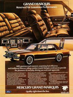 Ford Ltd, Car Brands Logos, Good Looking Cars, Mercury Cars, Grand Marquis, Car Brochure, Ford Lincoln Mercury, Toyota, Car Advertising