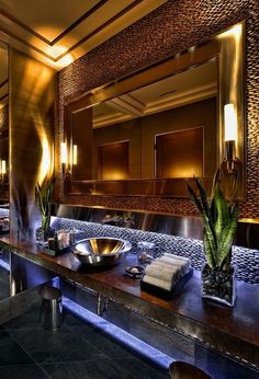 Houzz - Home Design, Decorating and Remodeling Ideas and Inspiration, Kitchen and Bathroom Design Dream Bathrooms, Beautiful Bathrooms, Luxury Bathrooms, Bathroom Interior, Modern Bathroom, Master Bathroom, Basement Bathroom, Stone Bathroom, Gold Bathroom