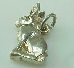 Vintage Sterling Silver Bunny Rabbit Charm