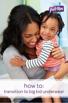 Making the leap from Pull-Ups to big kid underwear is a milestone worth celebrating in your child's potty training journey. Learn when and how to help your little one transition to underwear with this collection of tips and tricks. Try going shopping with your toddler and letting her pick out underwear in her favorite colors, or sit down and talk to her about this new change. You and your child can take this next step together.