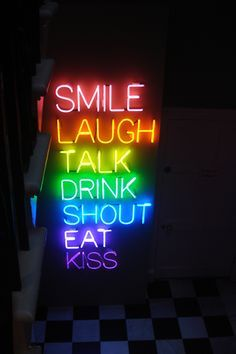 All the best things in life (except they didn't include dogs!) in #rainbow #neon #neonsign #rainbowneon colors
