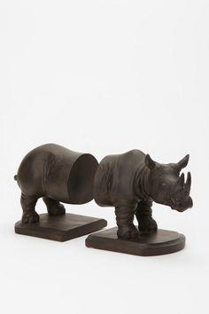 rhino bookends.