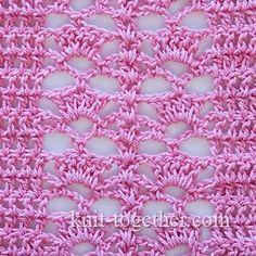 Crochet Shell Stitch 4  - description and crochet chart  #crochet #crochetStitch…