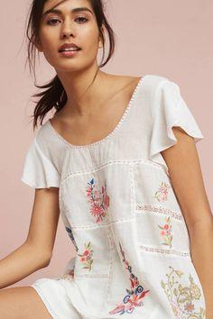 Floreat Rosalina Embroidered Sleep Top