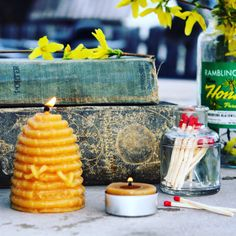 Beeswax candles by Farmer's Daughter Mercantile
