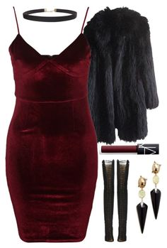 """""""1.6.17"""" by lovely-98 ❤ liked on Polyvore featuring Sonia Rykiel, Glamorous, Humble Chic, Alexis Bittar and NARS Cosmetics"""