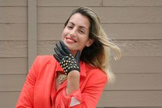 leather gloves with studs Luli B. *lovely things*