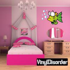 Duh Fish Cartoon Critter Vinyl Wall Decal Car Sticker TF Color 001