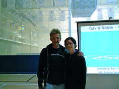 Olympic triathlete Gavin Noble who did Ireland proud at London 2012 with Marie O'Riordan at University of Limerick University Arena