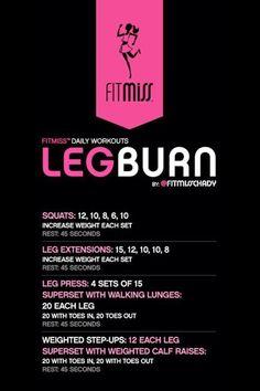 FitMiss Leg Burn Workout