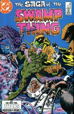 The cover to The Saga of the Swamp Thing #22, art by Tom Yeates