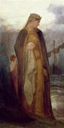 Queen Guinevere, 1860 by James Archer (Scottish King Arthur Legend, Legend Of King, King Arthur's Knights, The Lady Of Shalott, Mists Of Avalon, Roi Arthur, Sword In The Stone, Pre Raphaelite, Classical Art