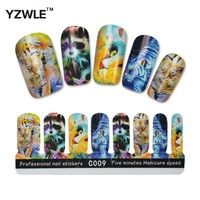 YZWLE 1 Sheet DIY Five Minutes Manicure Speed Animal Design Sticky Nail Stickers For Christmas (YZW-C009)