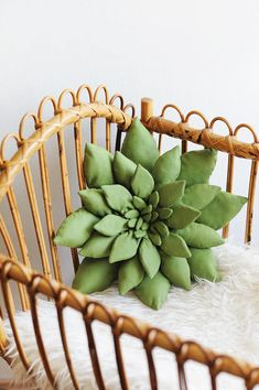 Succulent Pillow in Green, Cactus Nursery, Succulent, Cactus Pillow, Boho Room Decor, Boho Nursery D
