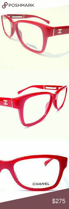 Chanel Eyeglasses New and authentic Chanel Eyeglasses  Beautiful red frame  Includes original case only Chanel  Accessories Glasses