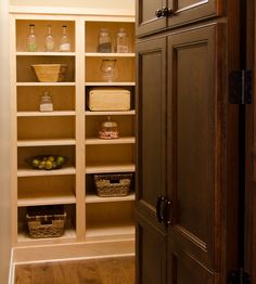 2013 Parade of Homes House - hidden pantry feature! Dining Rooms, Kitchen Dining, Hidden Pantry, Parade Of Homes, Tall Cabinet Storage, Bookcase, Kitchens, Shelves, House