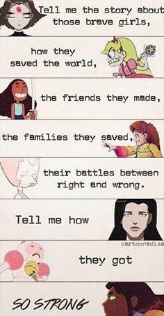 Raven, Star, Connie, Mabel, Pearl,  Zatanna, Bee, and Starfire.