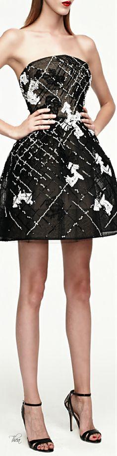 Monique Lhuillier ● SS 2015, Strapless Cocktail Dress