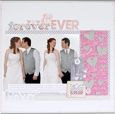 #papercrafting #scrapbook #layout  scrapbooking wedding pages @ shimelle.com