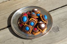 finished pretzel chocolate snacks