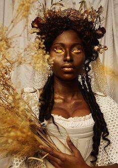 Black Girl Art, Black Women Art, Beautiful Black Women, Black Art, Black Girl Magic, Art Girl, Bild Girls, Black Goddess, Fantasy Photography