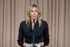 Major sponsors are suspending big endorsement deals with Russian tennis star Maria Sharapova after she admitted failing a drug test at this year's Australian Open. Maria Sharapova, Sharapova Tennis, Ana Ivanovic, Tournoi Tennis, Santa Monica, Vanity Fair, Belle Russe, Tennis News, Sports Channel