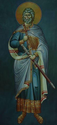 Άγιος Ευστάθιος / Saint Eustathius Religious Icons, Religious Art, Famous Freemasons, Byzantine Icons, High Art, Orthodox Icons, Mystic, Catholic, Saints