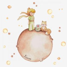 The little prince wall decal. wall sticker little prince. wall stickers nursery little prince. Vinyl Decals, Wall Decals, Prince Drawing, Prince Nursery, Nursery Wall Stickers, Paint Effects, The Little Prince, Watercolor Illustration, Watercolour