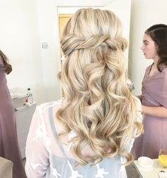 Half up twisted bridal hairstyle