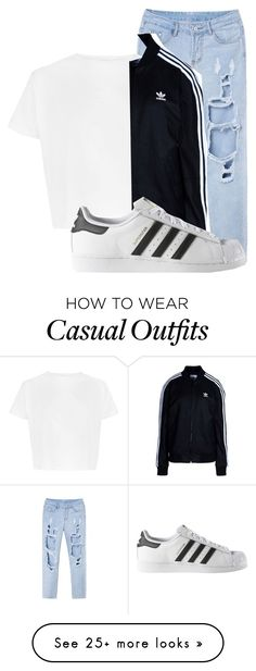 """casual"" by haileyhoksbergen on Polyvore featuring adidas Originals and adidas"