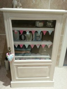 Annie sloan revamped mahoganyHi-fi cupboard