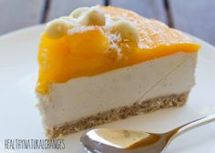 A delicious raw, mango-nana cheesecake for that special occasion. A creamy, dairy-free, gluten-free decadent dessert option!